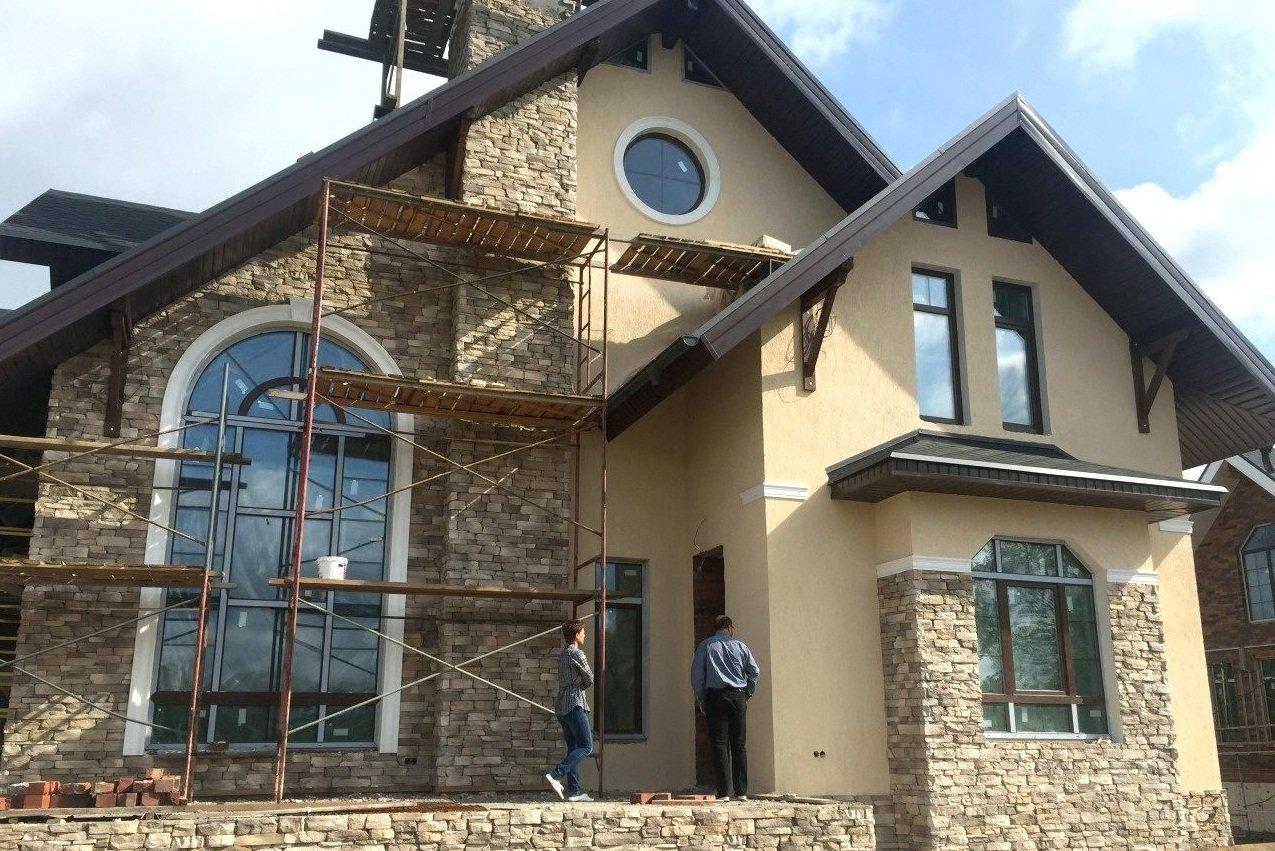 Покраска фасада дома варианты цвета