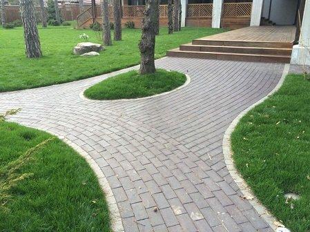 Укладка тротуарной плитки 4