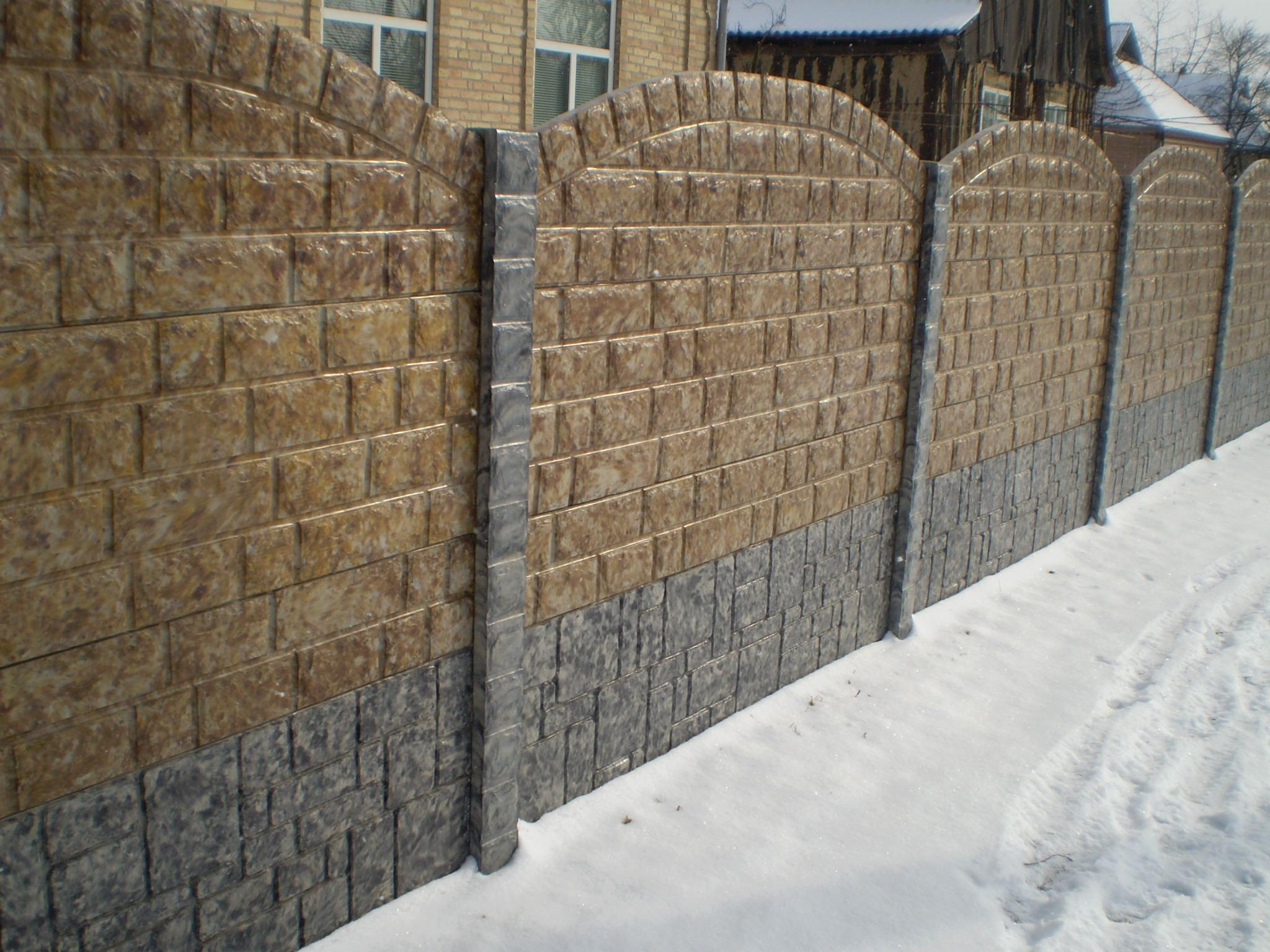 Изготовление заборов из бетона купить сетку для армирования бетона купить