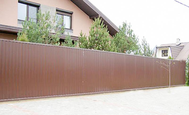 Купить забор из металлопрофиля (профнастила) в Минске и ...