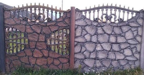 Купить забор из бетона цена купить бетон в туапсе